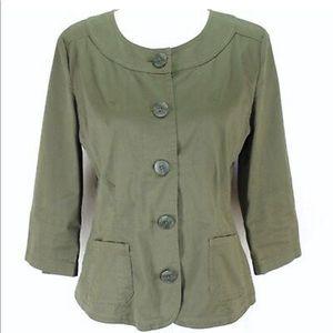 J Jill Blazer Jacket Stretch 3/4 Sleeve